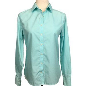 LANDS' END Supima No Iron Button Down Shirt Career